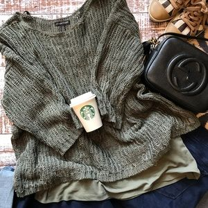 Eileen Fisher Knit Sweater & Coordinating Tank